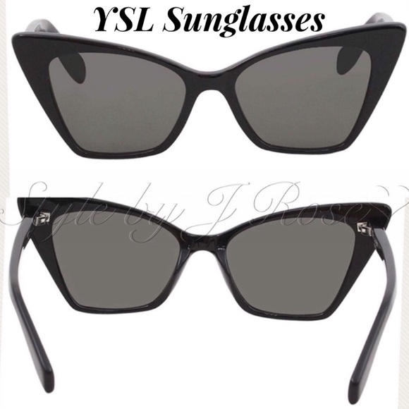 a417c56db5c Yves Saint Laurent Accessories | Nib Ysl Black Victoire Cat Eye ...